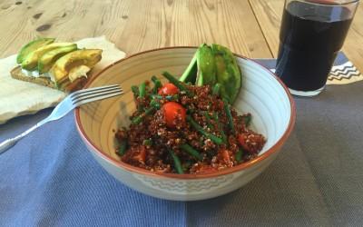 Quinoa mit gegrillter Avocado